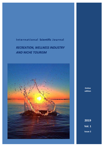 Journal of Smart Innovations on the Recreative & Wellness Industries and Niche tourism Issue 2 July - December 2019
